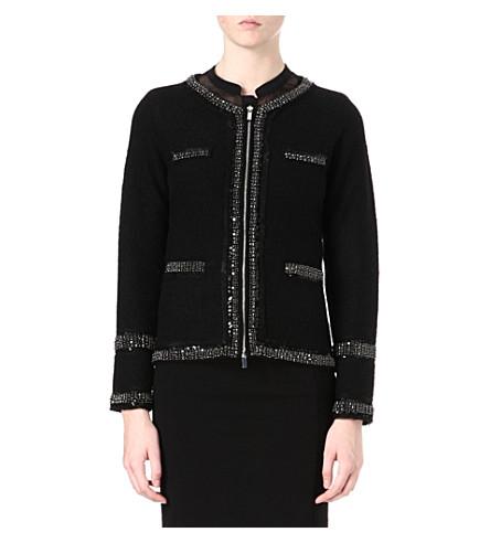 DIANE VON FURSTENBERG Aspen tweed jacket (Black