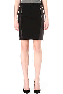 DIANE VON FURSTENBERG Lisa leather-panel pencil skirt