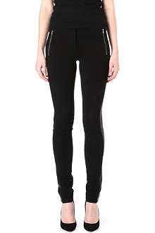 DIANE VON FURSTENBERG Leah leather-panel trousers