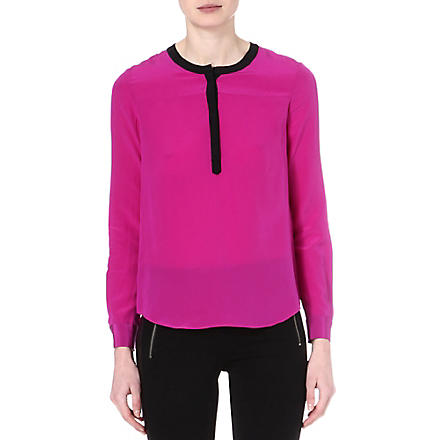 DIANE VON FURSTENBERG Maisy silk blouse (Orchid bloom/black
