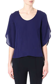 DIANE VON FURSTENBERG Nancy long-sleeved silk top