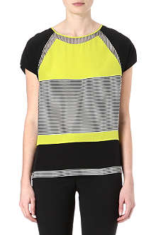 DIANE VON FURSTENBERG Quinn striped silk top