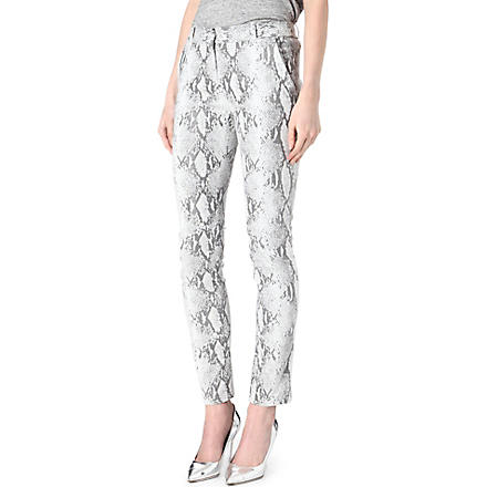 DIANE VON FURSTENBERG Mary snake-sprint trousers (Black/white