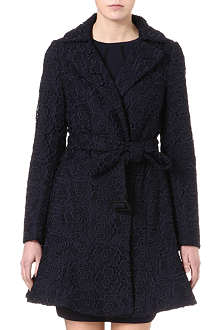 DIANE VON FURSTENBERG Tasha embroidered lace trench coat