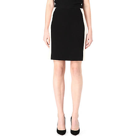 DIANE VON FURSTENBERG Ulyssa colour-block pencil skirt (Black/ecru