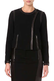 DIANE VON FURSTENBERG Esther leather-trim jacket