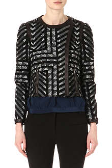 DIANE VON FURSTENBERG Esther leather-trimmed jacket