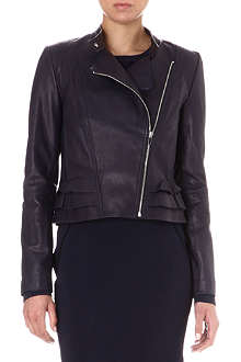 DIANE VON FURSTENBERG Heaven frilled leather jacket