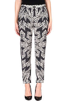 DIANE VON FURSTENBERG Madison silk trousers