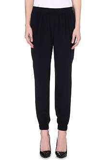 DIANE VON FURSTENBERG Janeta tapered high-rise silk trousers