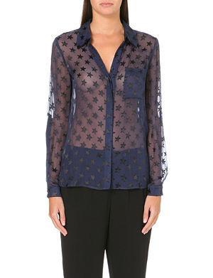 DIANE VON FURSTENBERG Lorelei silk-blend star print shirt