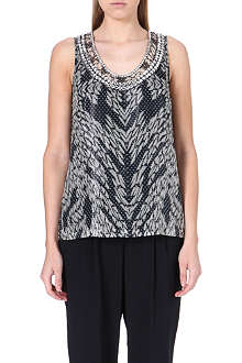 DIANE VON FURSTENBERG Embellished sleeveless top