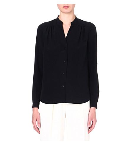 DIANE VON FURSTENBERG Harlow silk shirt (Black