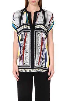 DIANE VON FURSTENBERG Alana sleeveless silk top