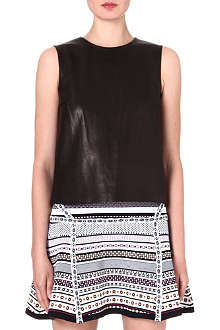DIANE VON FURSTENBERG Betty leather-panel top