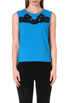 DIANE VON FURSTENBERG Betty embellished crepe top