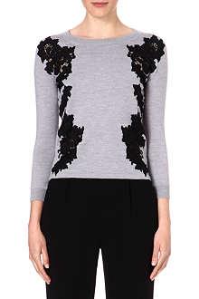DIANE VON FURSTENBERG Doreen lace-detail jumper