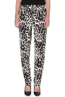 DIANE VON FURSTENBERG Bennett cheetah-print trousers