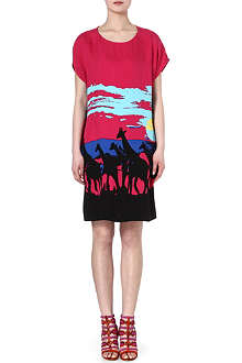 DIANE VON FURSTENBERG Harriet giraffe-print dress