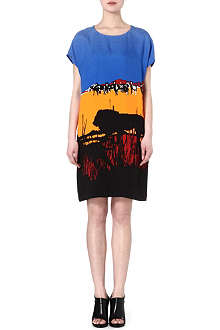 DIANE VON FURSTENBERG Harriet lion-print dress