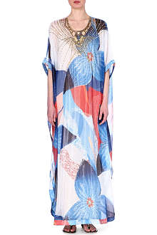 DIANE VON FURSTENBERG Silk-blend full-length kaftan