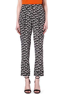 DIANE VON FURSTENBERG Atlas Jungle printed silk trousers