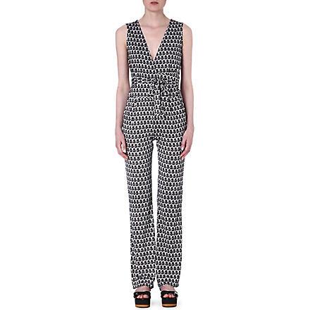 DIANE VON FURSTENBERG Paisley print silk jumpsuit (Floral/black