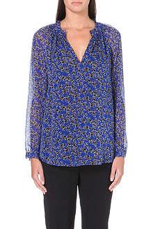 DIANE VON FURSTENBERG Peasant star print blouse