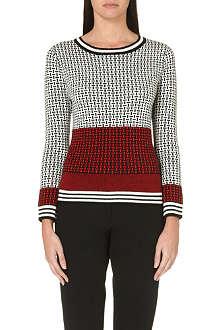 DIANE VON FURSTENBERG Micro-stitched wool jumper