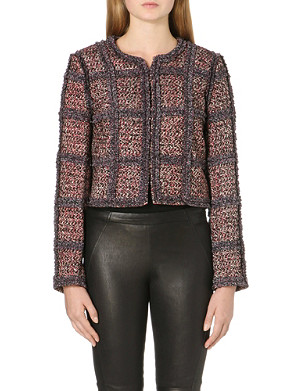DIANE VON FURSTENBERG Panelled tweed jacket