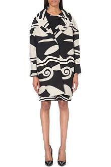 DIANE VON FURSTENBERG Wool-blend cocoon coat