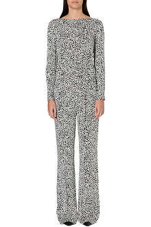 DIANE VON FURSTENBERG Abstract print jumpsuit