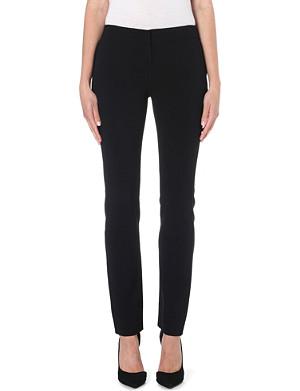DIANE VON FURSTENBERG Slim-fit straight crepe trousers