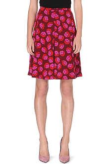 DIANE VON FURSTENBERG Rosalita printed silk skirt