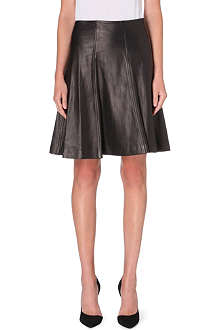 DIANE VON FURSTENBERG Rosalita leather flare skirt