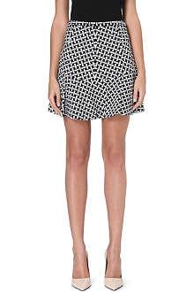 DIANE VON FURSTENBERG Flared geometric print skirt
