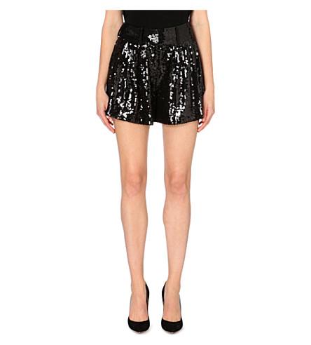 DIANE VON FURSTENBERG Aleah sequinned shorts (Black