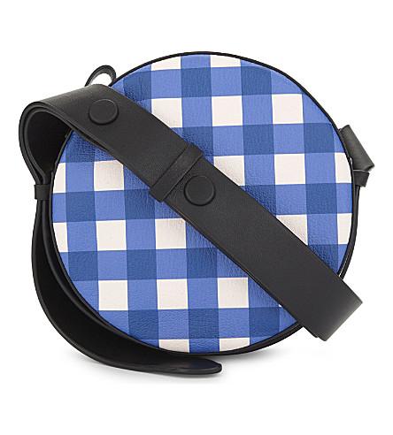 DIANE VON FURSTENBERG Round leather cross-body bag (Cossier+klein+blue/black