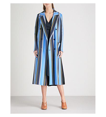 DIANE VON FURSTENBERG Ampère-print double-breasted silk-twill coat (Sussex+stripe
