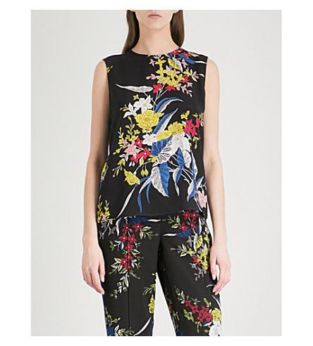 DIANE VON FURSTENBERG Floral-print silk-crepe top (Camden+cove