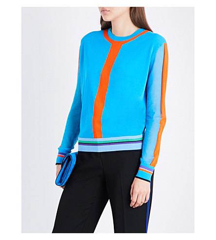 DIANE VON FURSTENBERG Crewneck knitted jumper (Azuro+combo