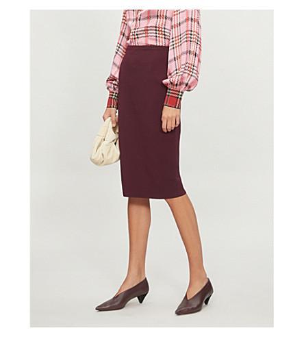 DIANE VON FURSTENBERG Knitted pencil skirt (Cabernet