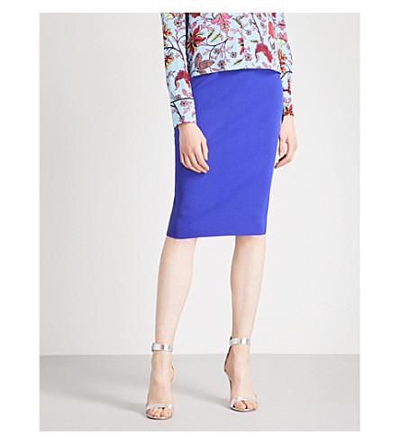 DIANE VON FURSTENBERG Knitted pencil skirt (Electric+blue