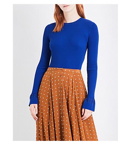 DIANE VON FURSTENBERG Fitted knitted jumper (Klein+blue/klein+blue