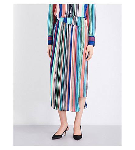 DIANE VON FURSTENBERG Striped woven skirt (Burman+str+mlt