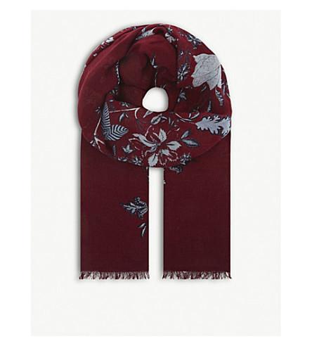 DIANE VON FURSTENBERG Canton modal and cashmere-blend scarf (Canton+bordeaux