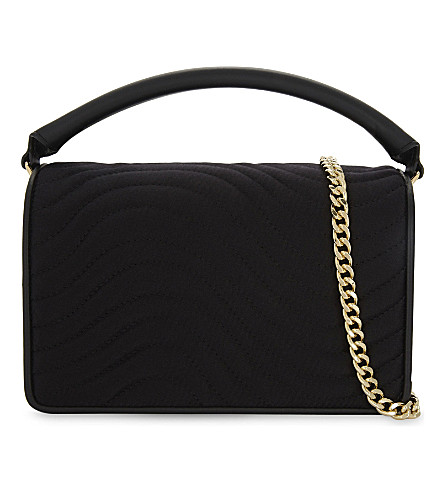 DIANE VON FURSTENBERG Soiree quilted velvet shoulder bag (Black