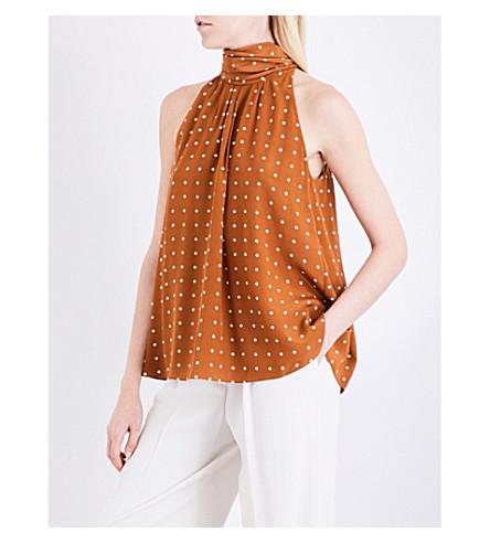 DIANE VON FURSTENBERG Printed silk-twill top (Arbor+dot+kola