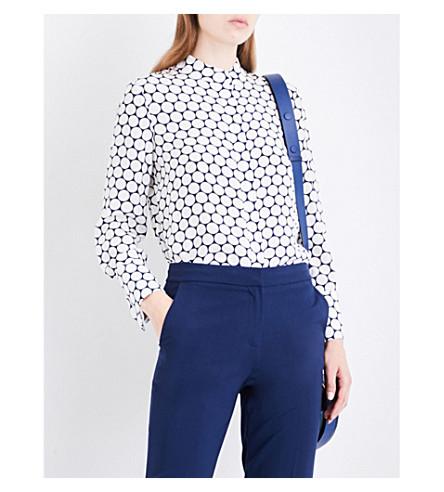 DIANE VON FURSTENBERG Polka dot-print silk shirt (Boltin+midnight