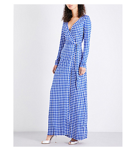 DIANE VON FURSTENBERG Julian silk-jersey maxi dress (Cossier+small+klein+blue